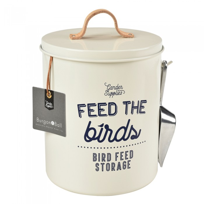 "Vogelfutterdose ""Feed the birds"" - Creme"