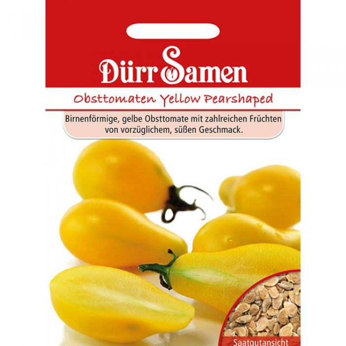 Obsttomaten Yellow Pearshaped
