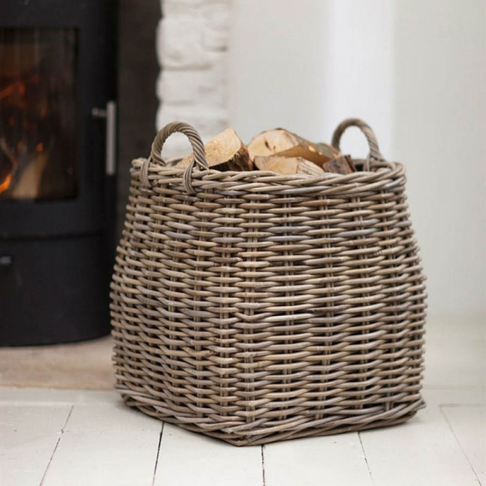 "Kaminholz-Korb ""Tapered Log Basket - Rattan"""