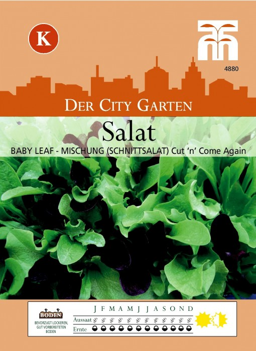 Baby-Leaf (Schnittsalat-Mischung) 'Cut 'n' Come again'