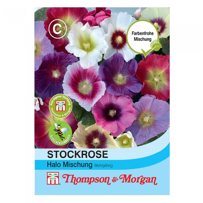 Stockrose (Alcea rosea) Halo Mixed