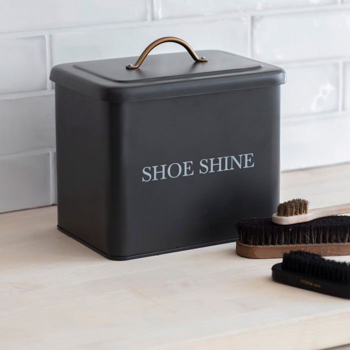 "Schuhputzbox ""Shoe Shine"" - Carbon"