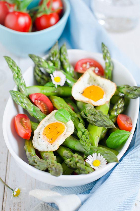 Frühlingssalat mit Spargel und Ei