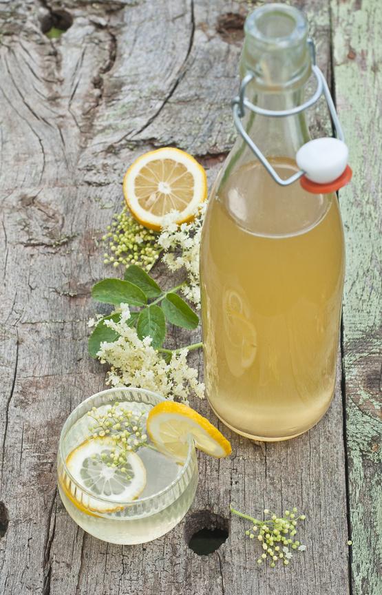 Elderflower and lemon juice