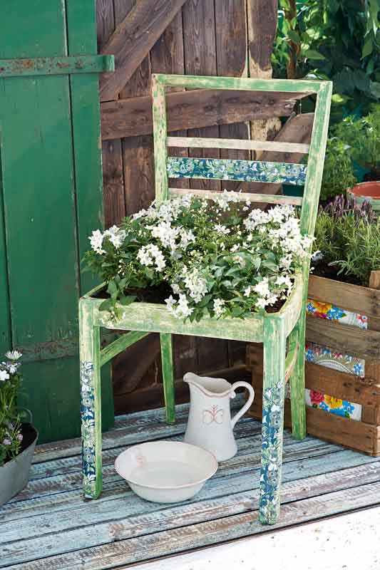 shabby charme im garten gartenzauber. Black Bedroom Furniture Sets. Home Design Ideas