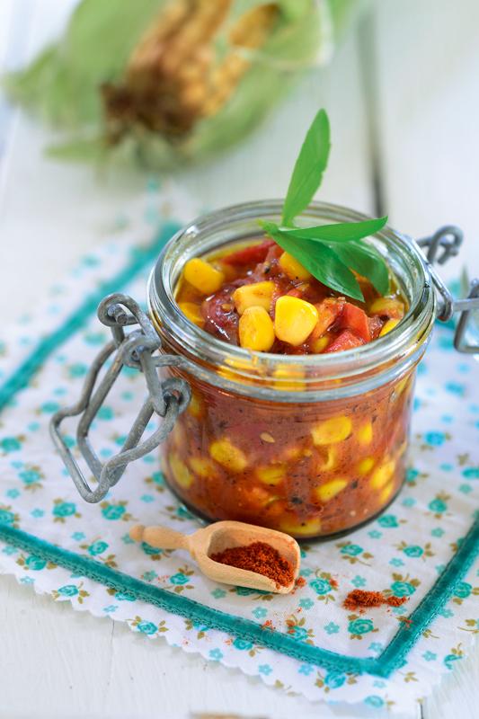Tomaten-Maisrelish